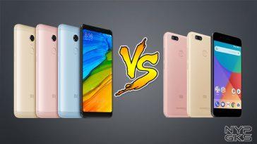 Xiaomi Redmi 5 Plus vs Mi A1 - NoypiGeeks
