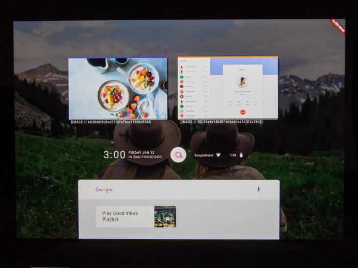 UI of Google Fuschia