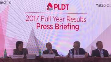 pldt financial and operating results 2017-