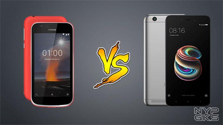 Nokia 1 vs Xiaomi Redmi 5A Specs Comparison — NoypiGeeks
