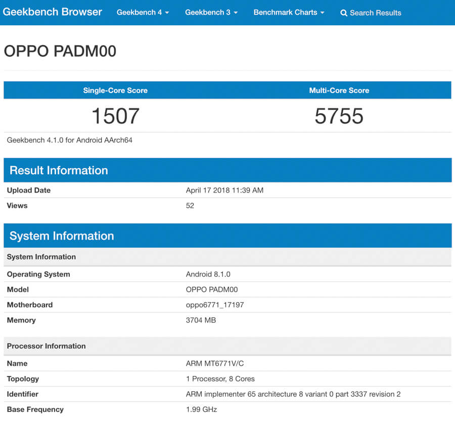 oppo a3 leaked specs