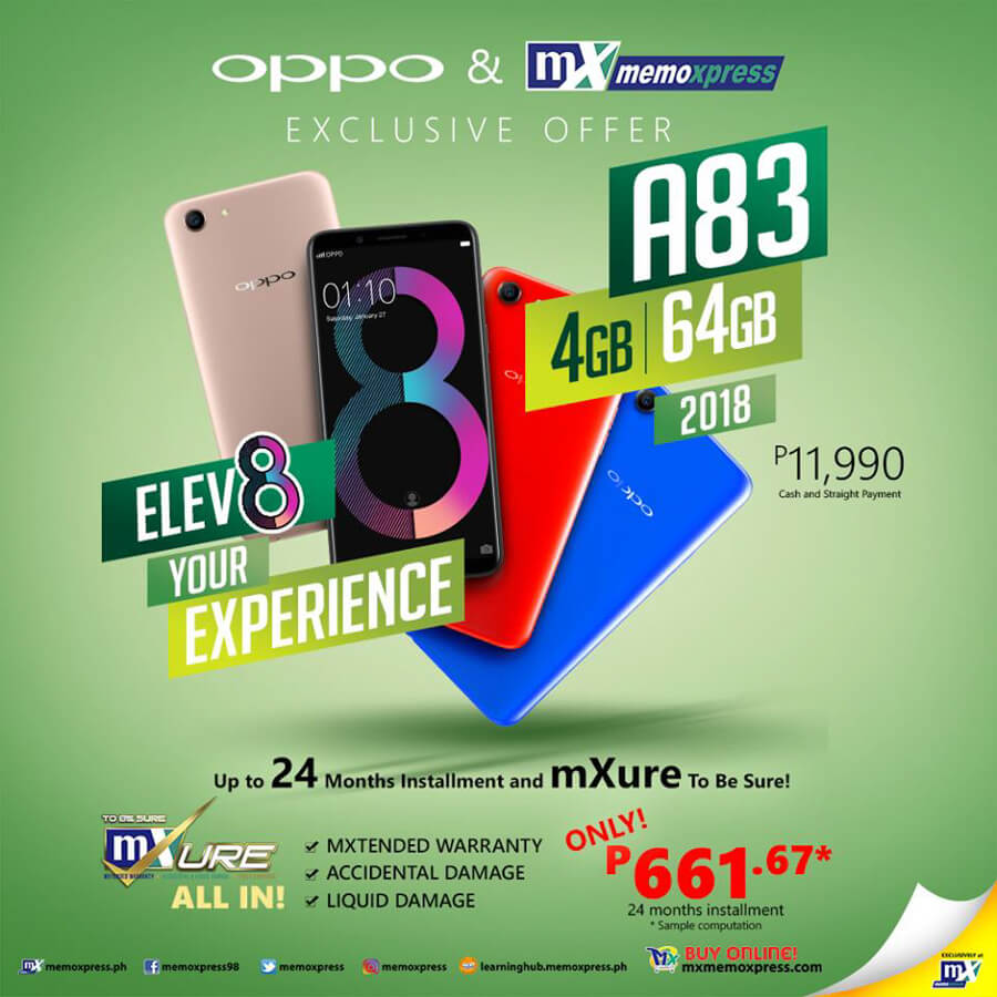 oppo a83 4gb 64gb price philippines
