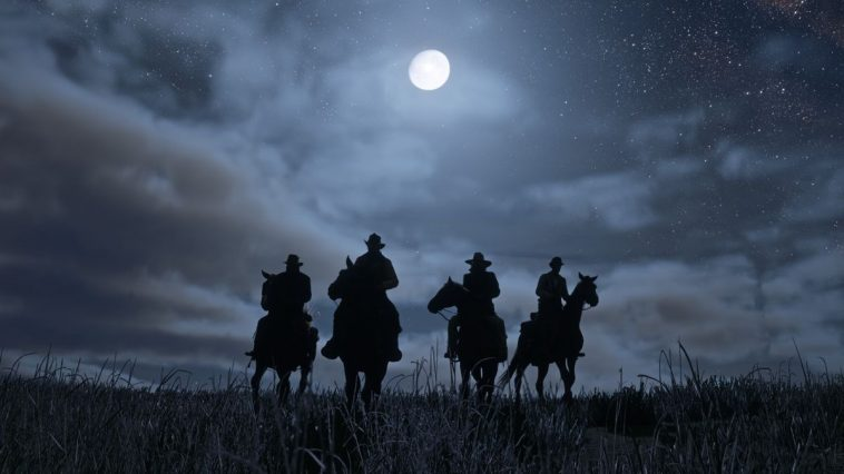 Red Dead Redemption 2 - The Van der Linde gang at Night