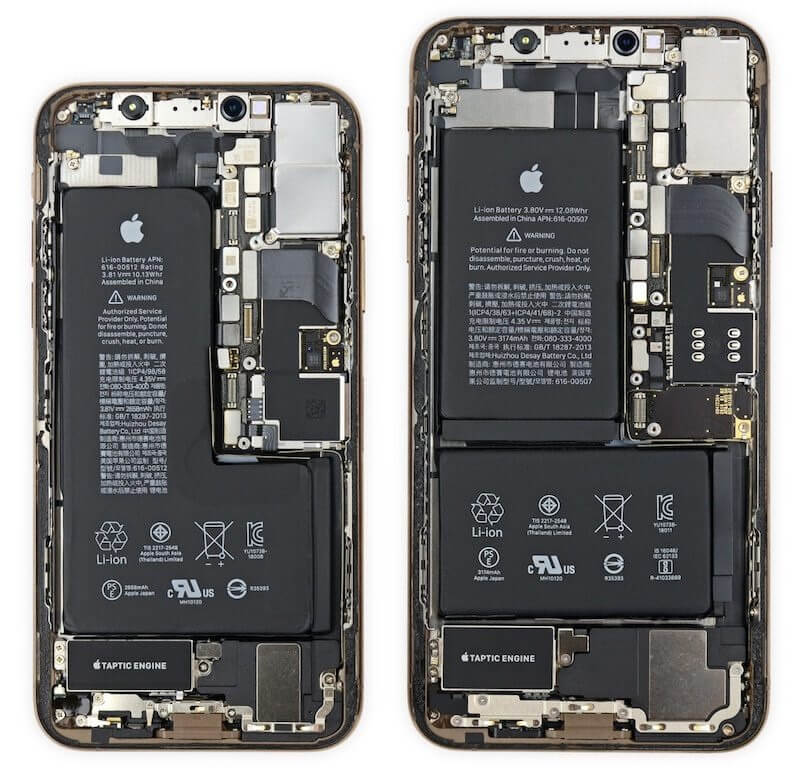 iPhone XS Max 256GB components cost estimated at $443, but