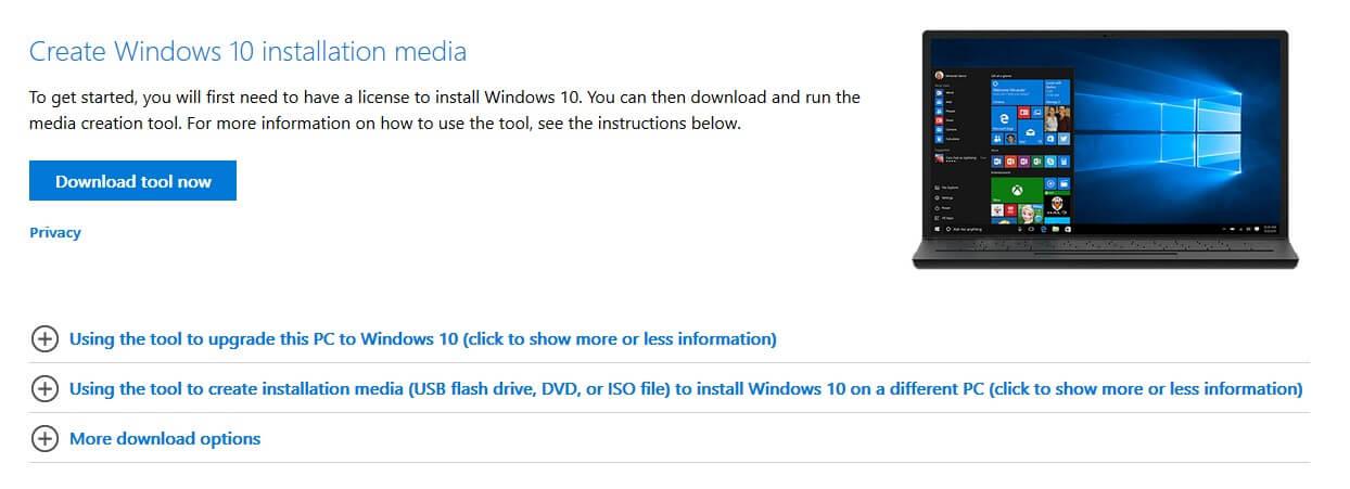 Download-Windows-10-tool