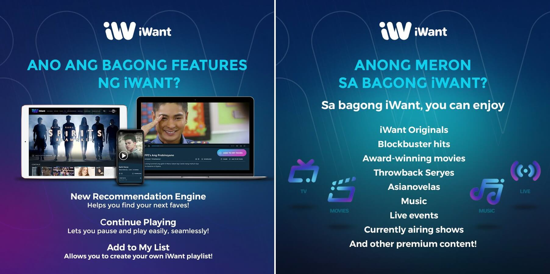 iWant- Features