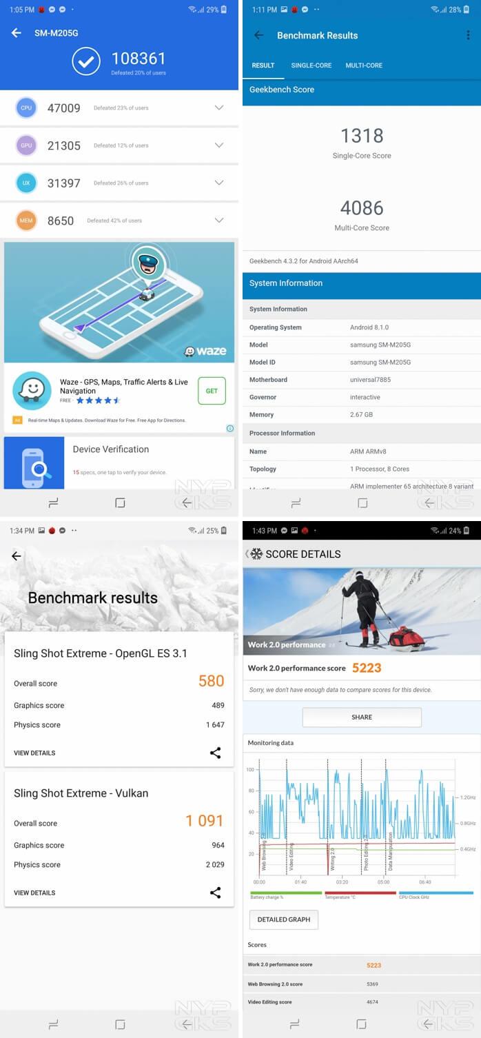 Samsung-Galaxy-M20-benchmarks