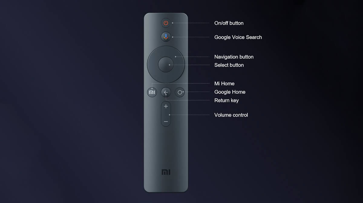 XIaomi-Mi-TV-43-4k-android-remote