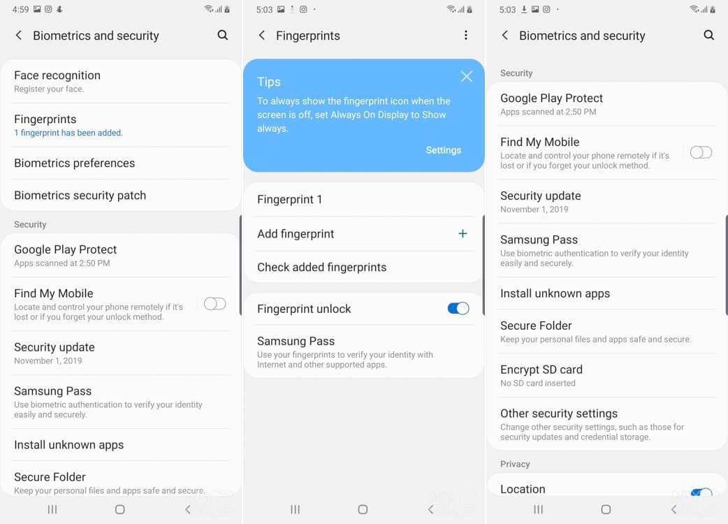 Samsung-Galaxy-A50s-Security-fingerprint