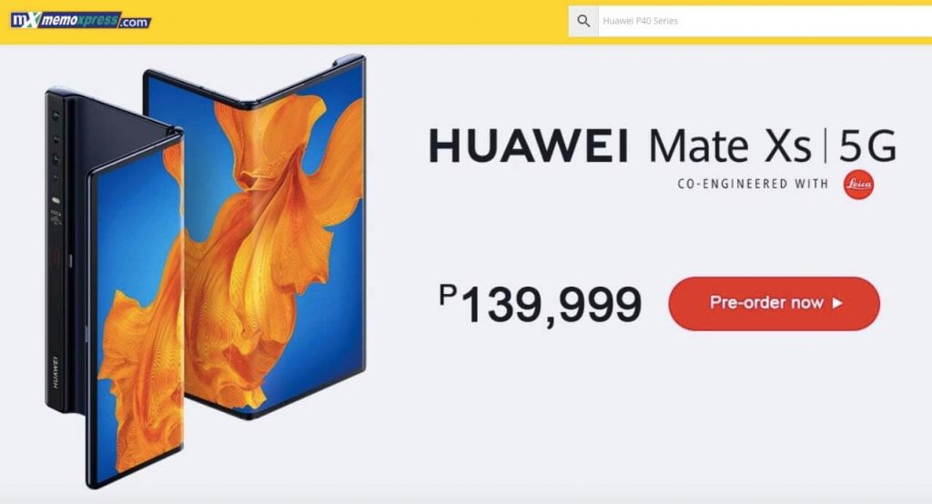 Huawei-Mate-Xs-5G-Pricing