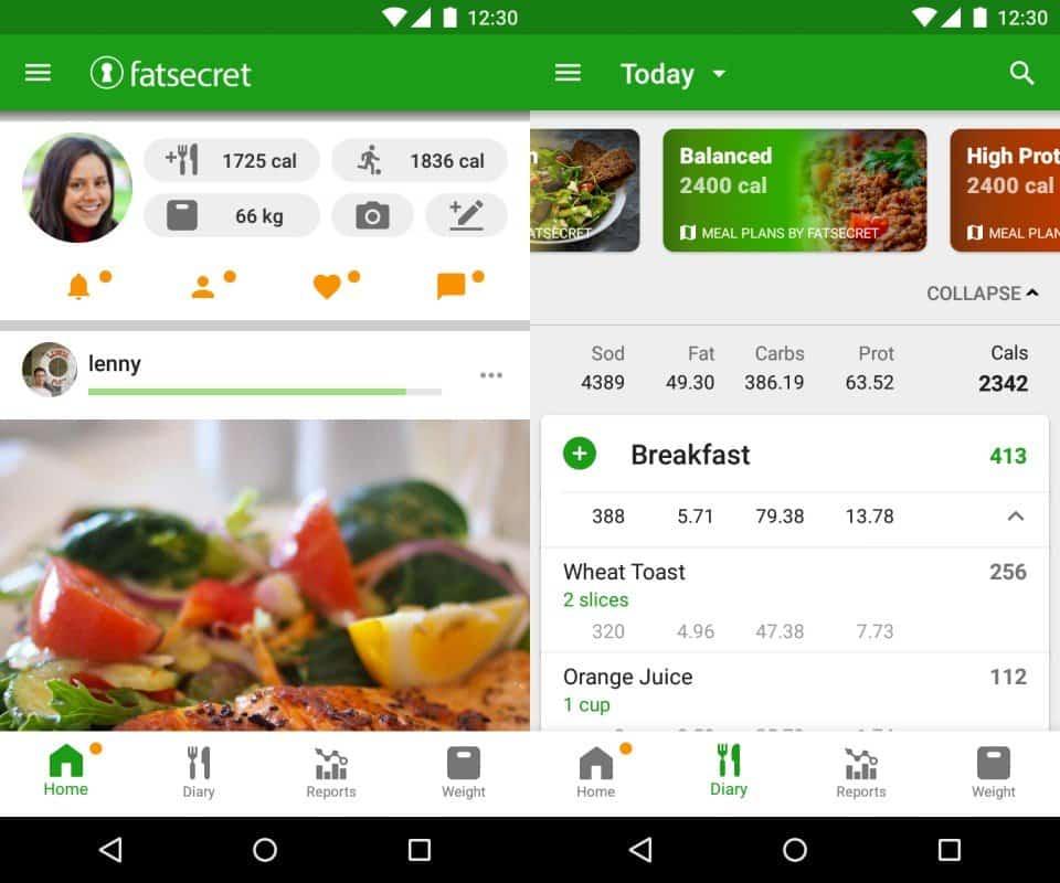 Fatsecret-fitness-app