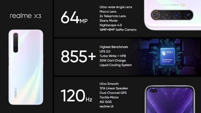 Realme X3 Snapdragon 855 Chipset 8gb Ram 120hz Refresh Rate