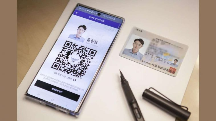 Drivers-license-smartphone-South-Korea