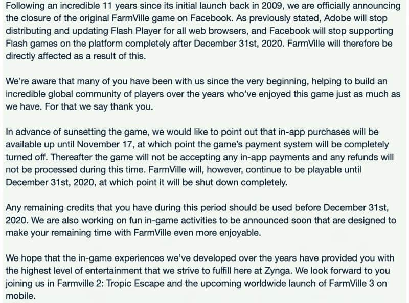 Facebook-FarmVille-shut-down