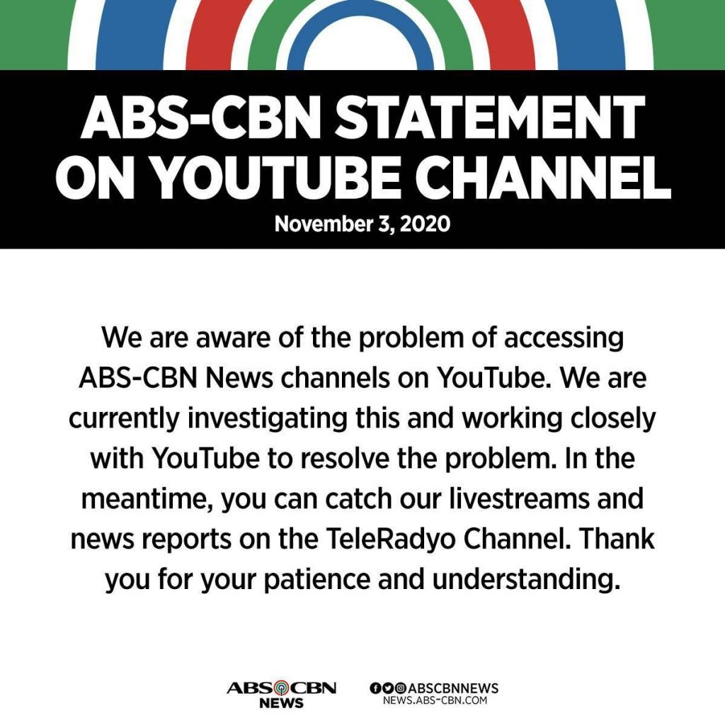 ABS-CBN-YouTube-banned