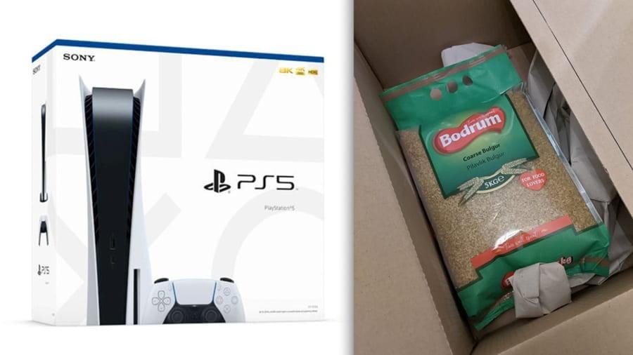 delivered-ps5-boxes-cat-food-bag-grains-noypigeeks
