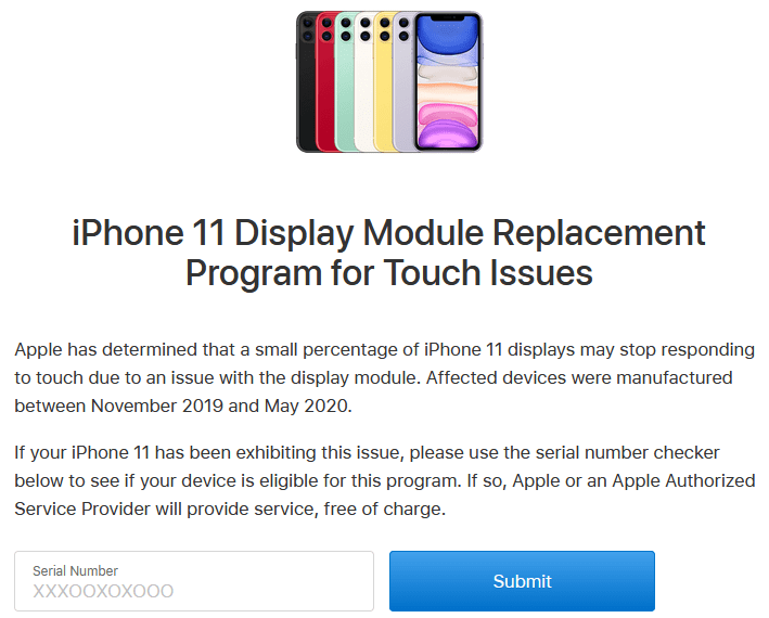 iPhone-11-display-panel-free-replacement