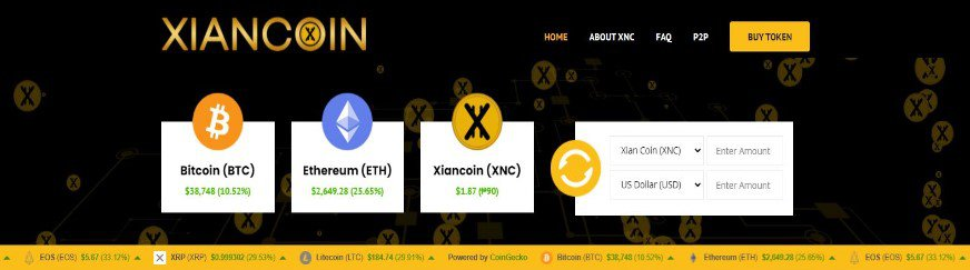Xian-Coin-Cryptocurrency